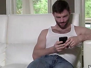 Hairy stepdad Dennis West takes his stepson huge..