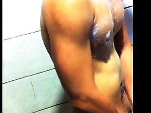 teammate in shower, and jerking
