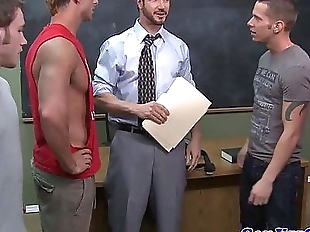 Teacher gets bukkake from student jocksHD